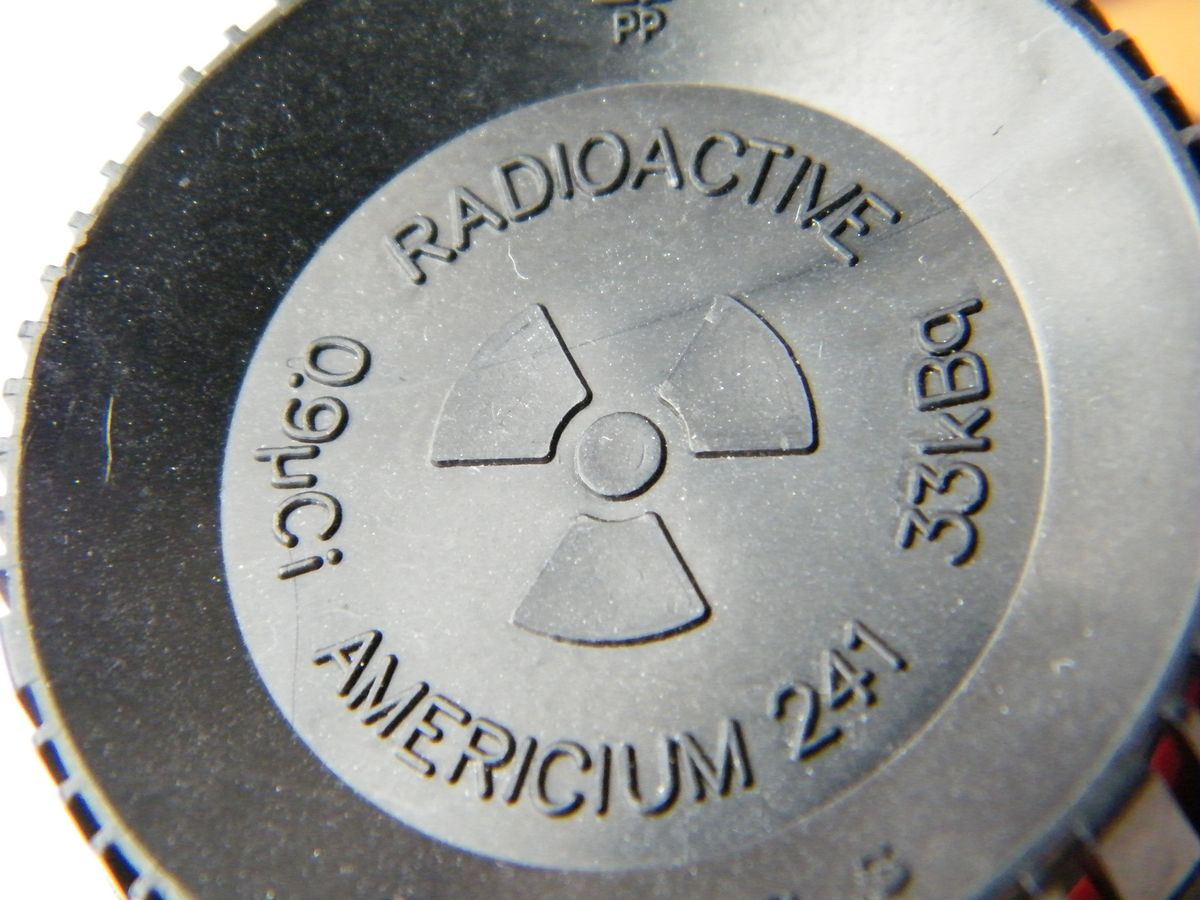 Many smoke detectors contain the radioactive element Americum.